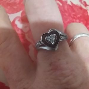 Kay Jewelers black onyx and diamonds. Size 6
